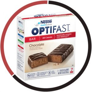 Optifast meal replacement chocolate bar